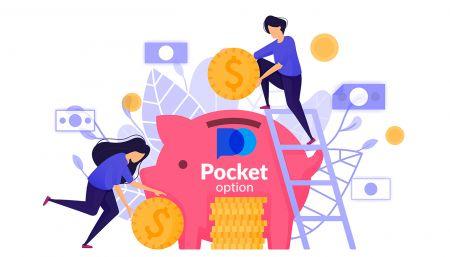 Cómo retirar y hacer un depósito de dinero en Pocket Option